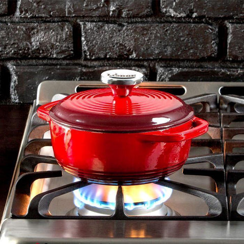 Enamel Dutch Oven 1.5 qt. (Red) by Lodge
