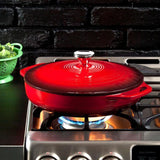 Enamel Covered Casserole 3.6 qt  (Red) by Lodge
