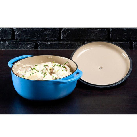 Enamel Dutch Oven 4.5 qt. (Blue) by Lodge