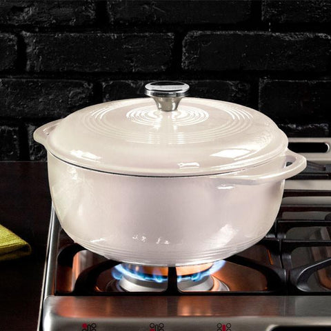 Enamel Dutch Oven 6 qt. (White) by Lodge