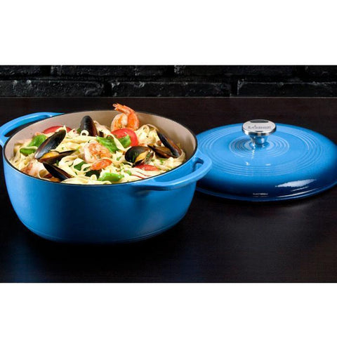 Enamel Dutch Oven 6 qt. (Blue) by Lodge