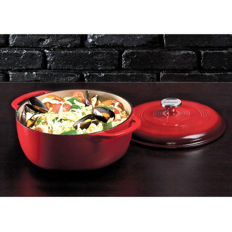 Enamel Dutch Oven 6 qt. (Red) by Lodge