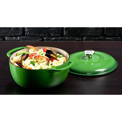 Enamel Dutch Oven 6 qt. (Green) by Lodge