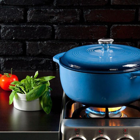 Enamel Dutch Oven 7.5 qt. (Blue) by Lodge
