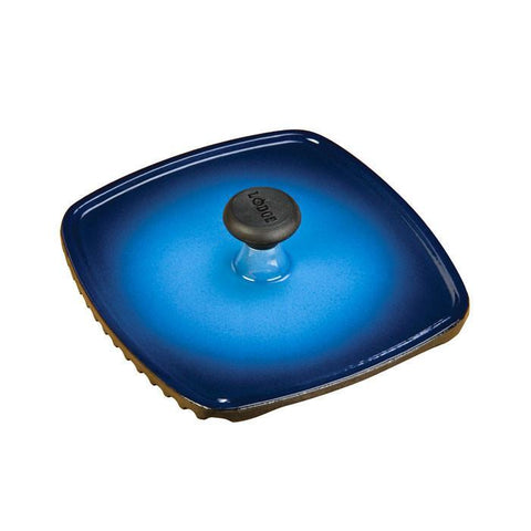 "Color Enamel Panini Press 8-1/4"" x 8-3/4"" (Blue)"