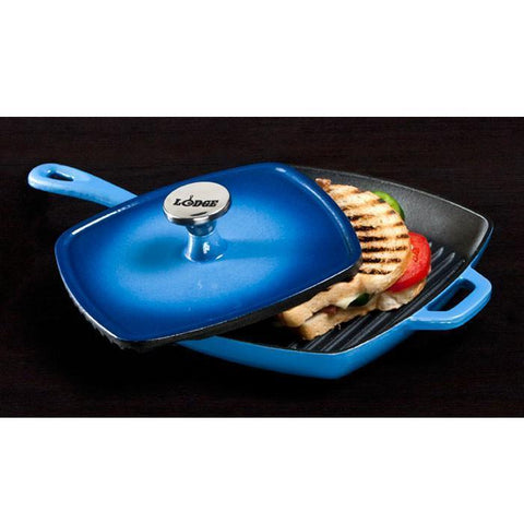 "Colour Enamel Square Grill Pan 10"" (Blue) by Lodge"