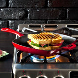 "Colour Enamel Square Grill Pan 10"" (Red) by Lodge"