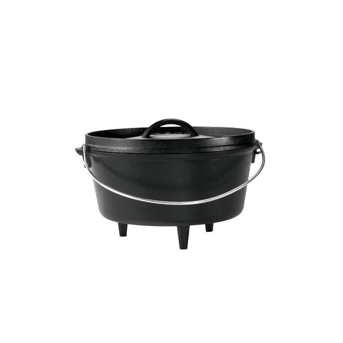 10 Inch / 5 Quart Deep Camp Dutch Oven, 4.125 inch depth