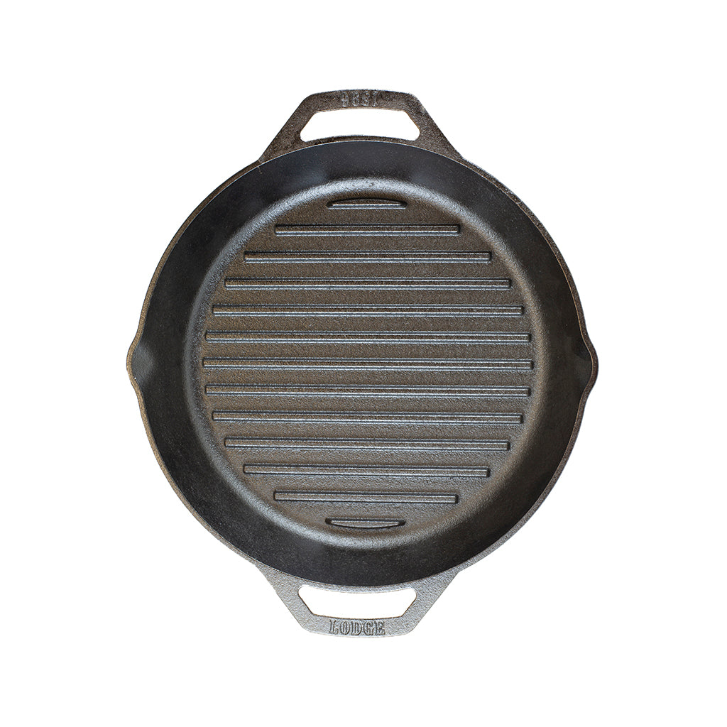 12 Inch Dual Handle Cast Iron Grill Pan by Lodge