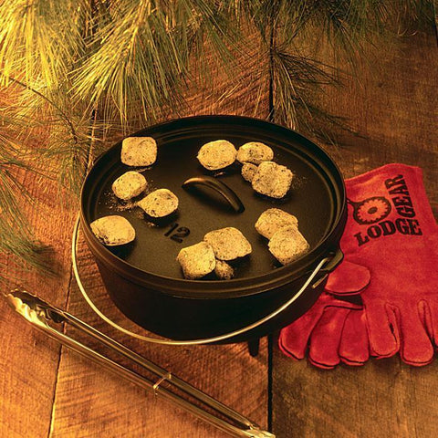 12 Inch / 8 Quart Deep Camp Dutch Oven, 5 inch depth by Lodge