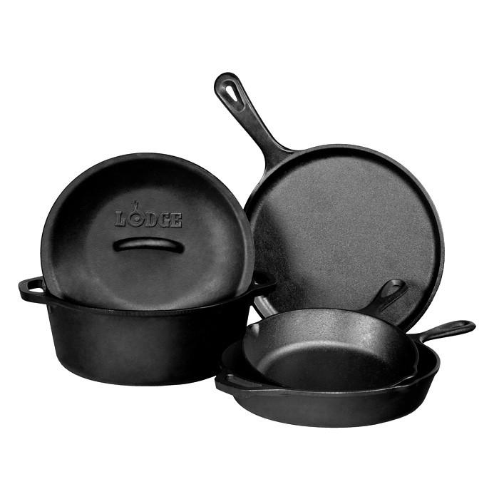 Pro-Logic Cast Iron Cookware Set, 5-Piece by Lodge