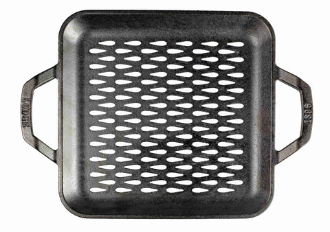 Chef Collection™ 11 Inch Cast Iron Style Square Grill Topper