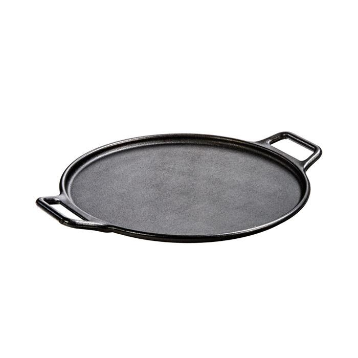 Cast Iron Pizza Pan, with Loop Handles 14 Inch