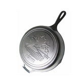10.25 Inch Cast Iron Skillet with Loon Scene & Hot Handle Holder by Lodge