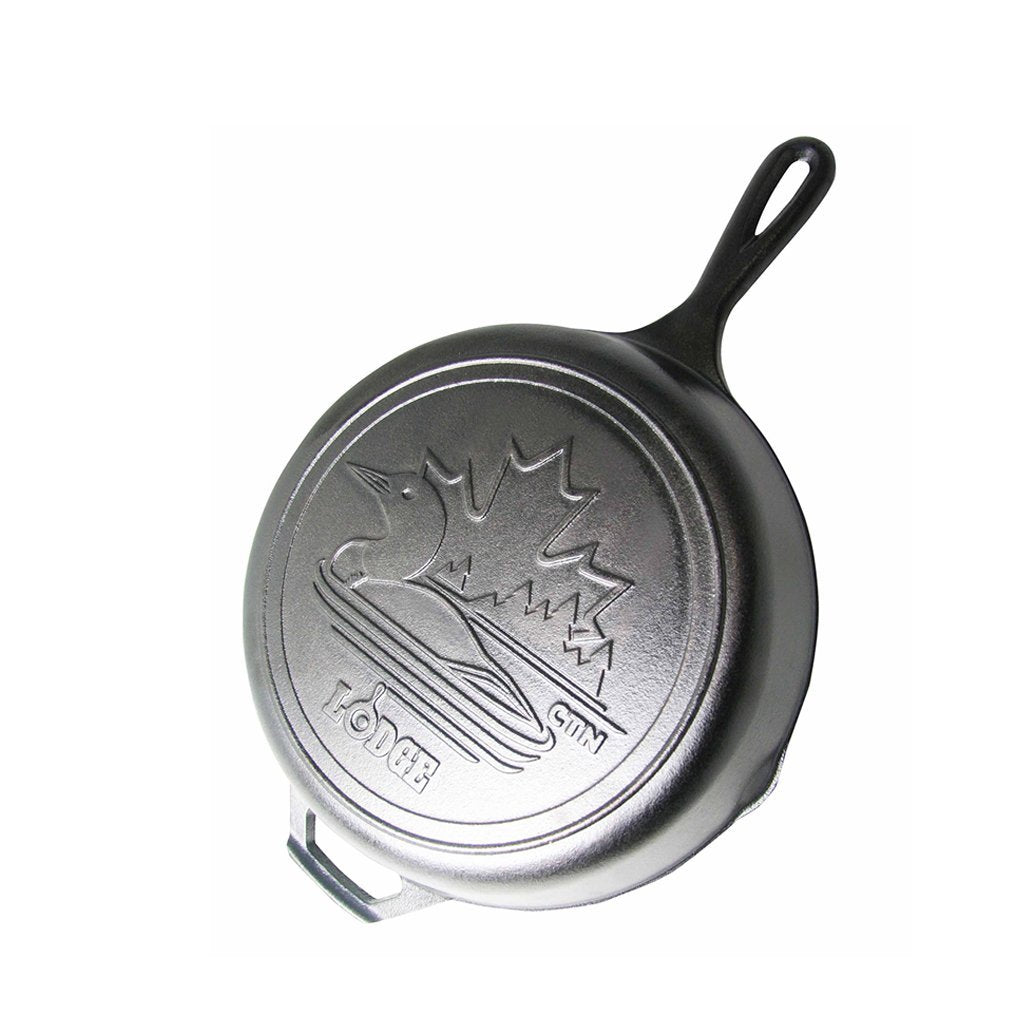 10.25 Inch Cast Iron Skillet with Loon Scene by Lodge
