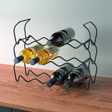 Wine Bar 12 Lava Bottle Rack by Metaltex
