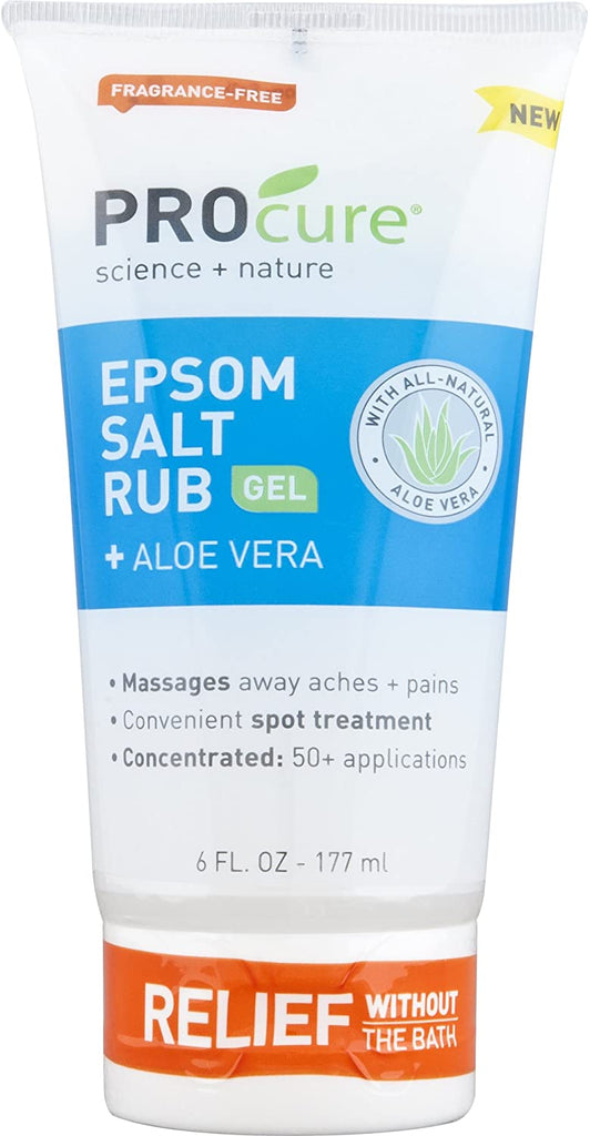 PROCURE Epsom Salt Rub 6 OZ WITH Aloe Vera & Essential Oils