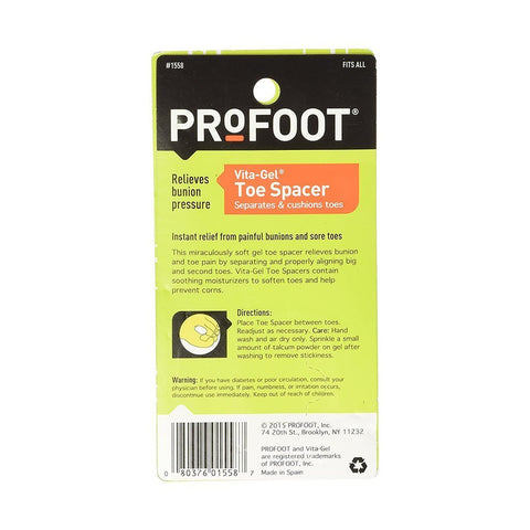 ProFoot Vita-Gel Toe Spacer