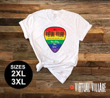 Guitar Pick LGBQ 2XL-3XL -  Virtual Village - House of Rodan
