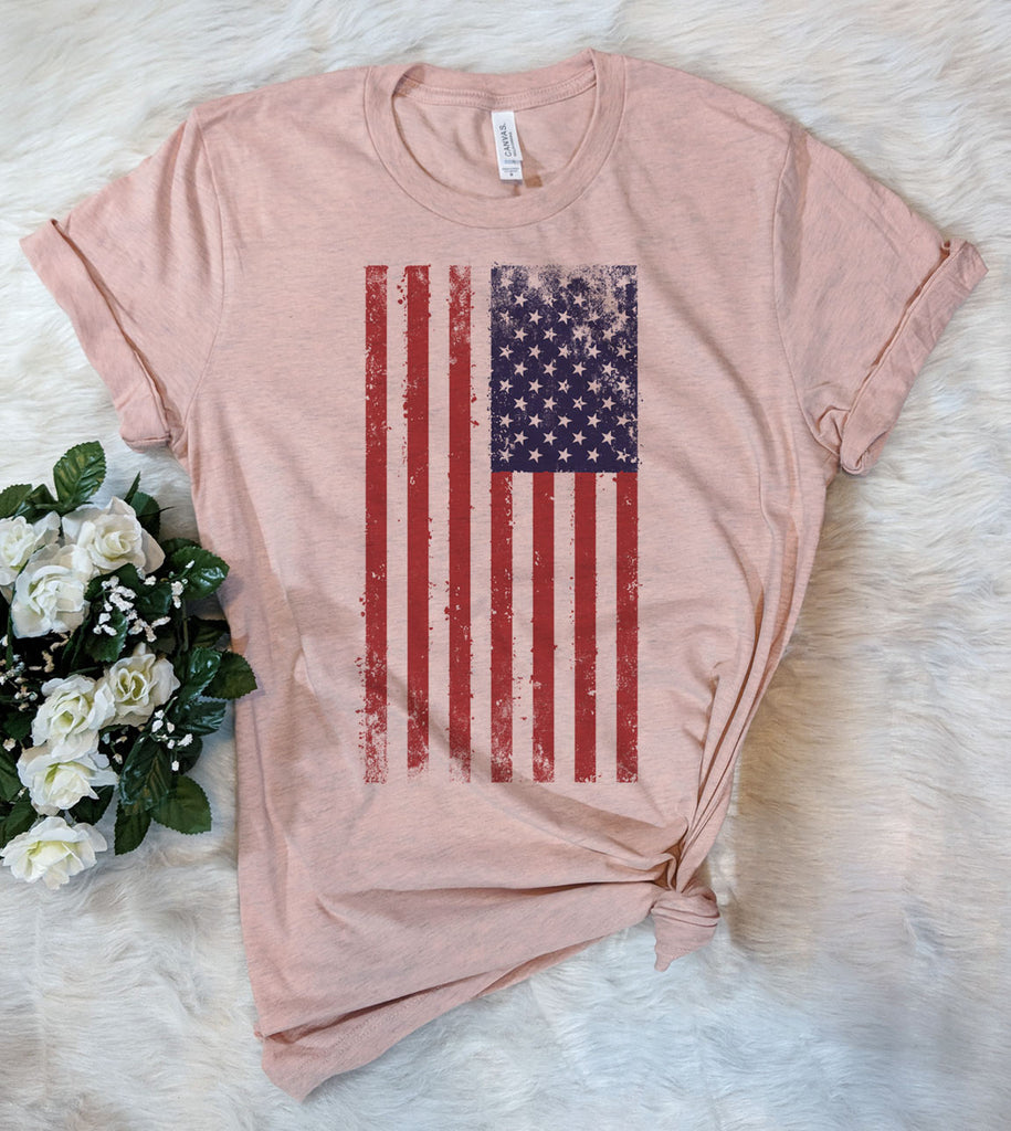 Distressed American Flag - T-Shirt