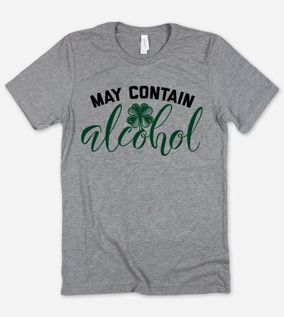 May Contain Alcohol Shamrock -  Funny St Patrick's Day T-Shirt - House of Rodan