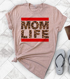 Mom Life Leopard Rock - Mother's Day T-Shirt