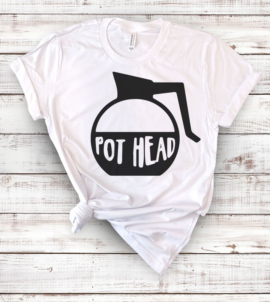 Pot Head Funny Coffee - T-Shirt