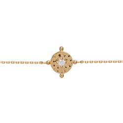 Baby Amalfi Coin Bracelet Gold with Clear