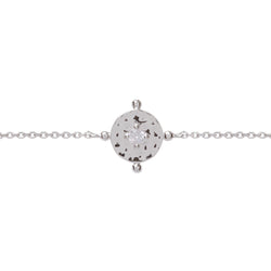 Baby Amalfi Coin Bracelet Silver with Clear