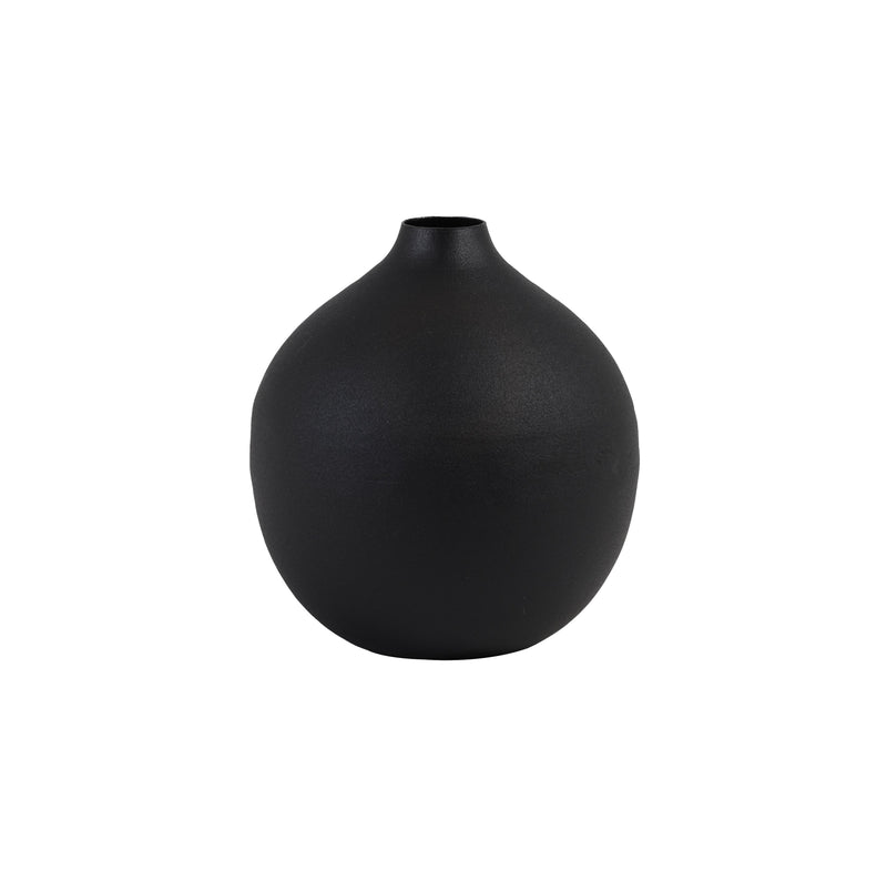 Matt Black Orb Vase