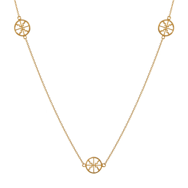Long Multi Disc Chain Gold
