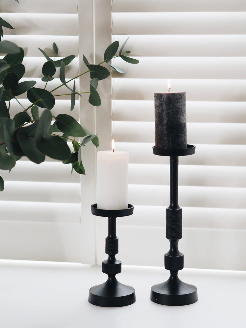 Rustic Pillar Candle - Available in 2 Colours