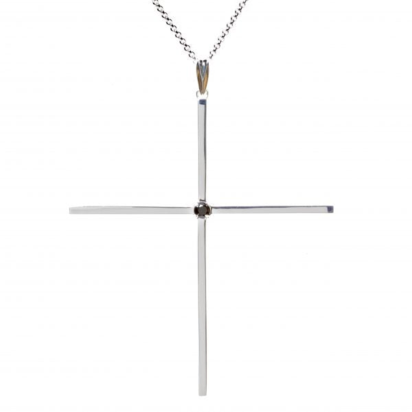 Classic Cross Silver with Black