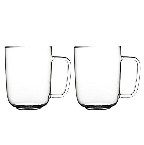Set of 2 Glass Coffee Cups