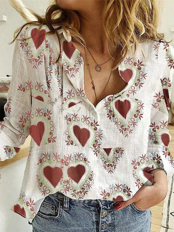 Fashion Casual Long Sleeve Shirt Top