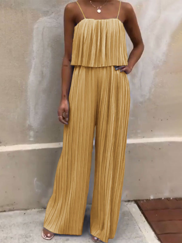 Sexy Suspenders High Waist Loose Jumpsuit