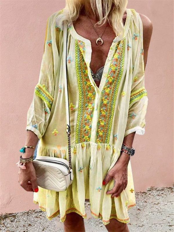 Bohemian Vintage Loose Casual Dress