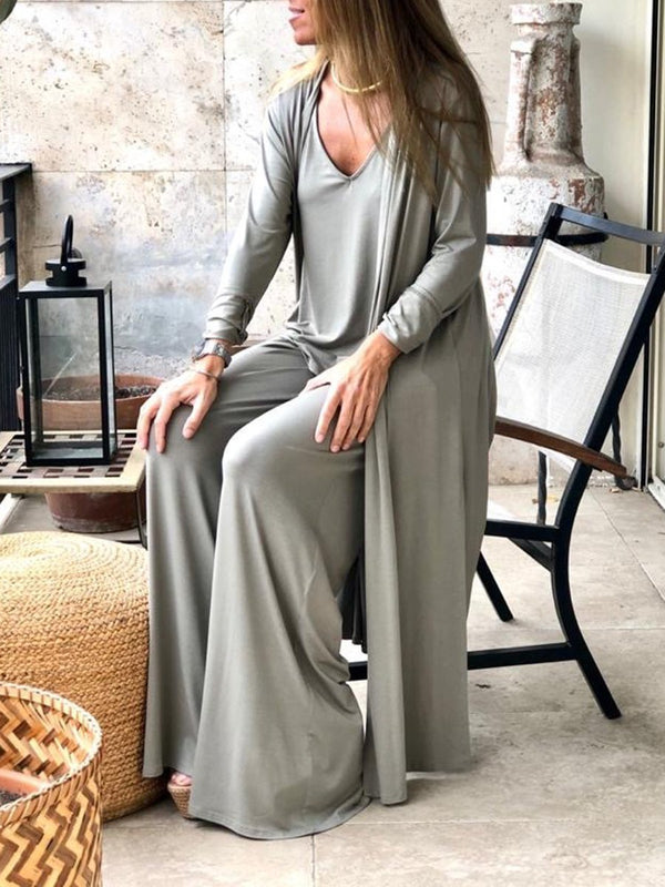 Comfortable Soft Loose Three-piece Suit Set
