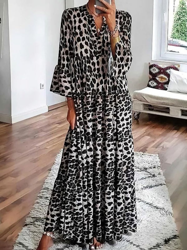 Sexy Leopard Print Long Dress