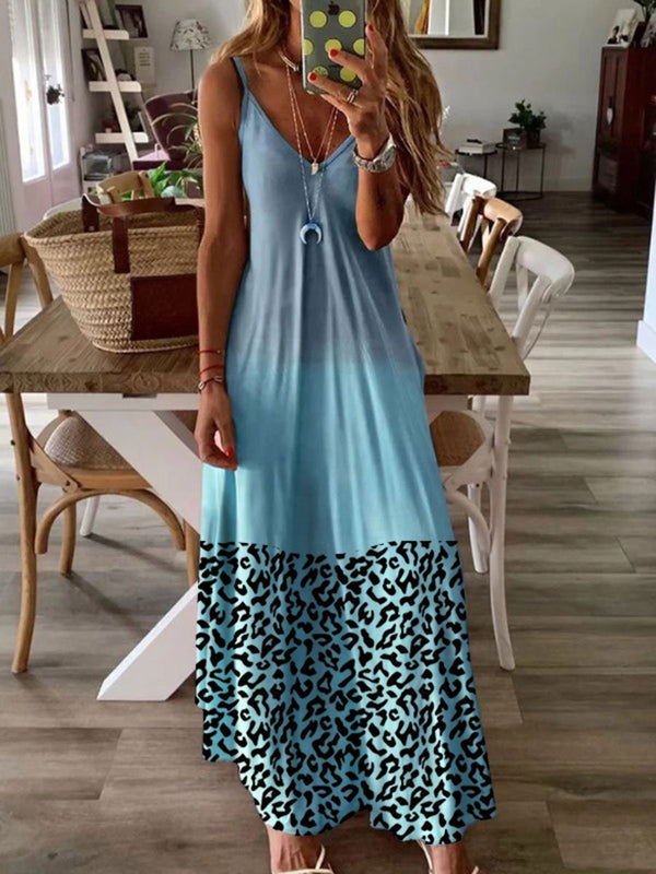 Leopard Print Dress with Casual Strap