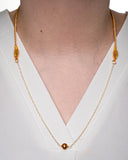 14 Karat Gold Filled Chain with Pearl Necklace