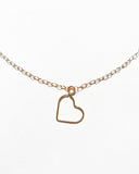 Gold Filled 14 Karat Chain with Heart Pendant Necklace