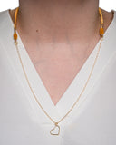 14 Karat Gold Filled Chain with Heart Pendant Necklace