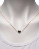 14 Karat Gold Filled Chain with Blue Pearl Necklace