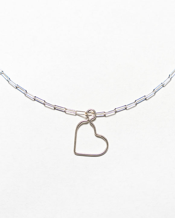 Sterling Silver Necklace with Heart Pendant