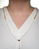Silver Chain with Pearl Pendant Necklace