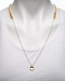Silver Plated Chain with Gold Plated Pendant Necklace