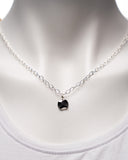 Silver Plated Chain with Silver Pendant Necklace