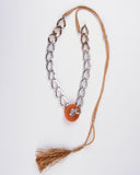 Aventurine Stone and Chain Necklace
