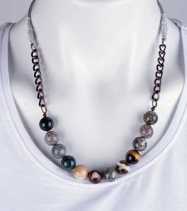 Ocean Jasper Stone Necklace